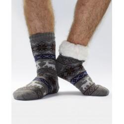 Termo pánske protišmykové ponožky 13 sobík sivé