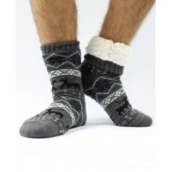Termo pánske protišmykové ponožky 14 sobík šedé