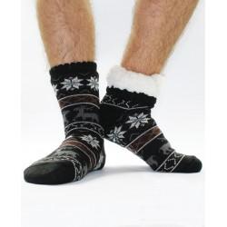 Termo pánske protišmykové ponožky 15 sobík čierne