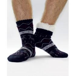 Termo pánske protišmykové ponožky 16 sobík tmavo-modrá