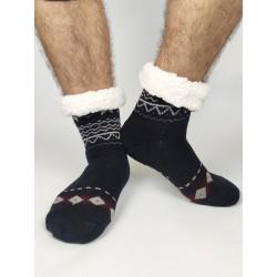 Termo pánske protišmykové ponožky 2020-02 sobík tmavo-modrá