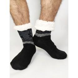 Termo pánske protišmykové ponožky 2020-01 sobík čierne