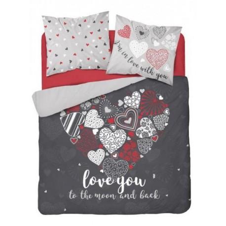 PB-DX-HOL-220-3337-A Bavlnené posteľné obliečky 200x220 Love you