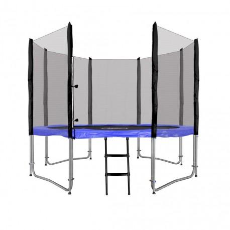 5560 Malatec Trampolína 305 cm, modrá + ochranná sieť + rebrík