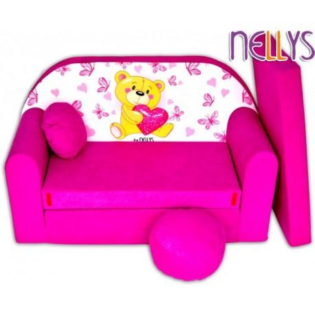 Rozkladacia detská pohovka Nellys Míša