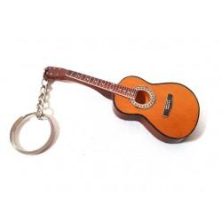 Prívesok na kľúče - hnedá gitarka