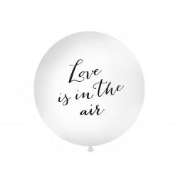 Balón - Love is in the air, biely - 100cm
