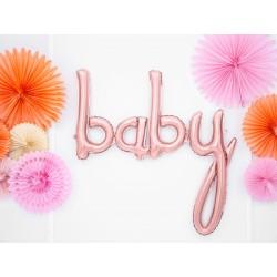 Fóliový balón - Baby, rúžové zlato 73cm