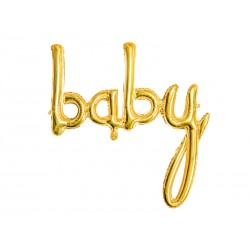 Fóliový balón - Baby, zlatý 73cm