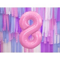 Fóliový balón - Číslo, ružový 86cm