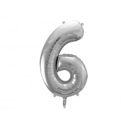 Fóliový balón - Číslo, strieborný 86cm