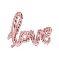 Fóliový balón - Love, Ružové zlato 73x59cm