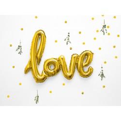 Fóliový balón - Love, Zlatý 73x59cm