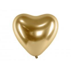 Chromované balóny - Glossy Hearts 27cm, 10ks
