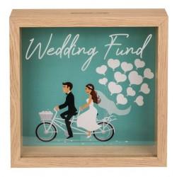 Drevená pokladnička - Wedding Fund