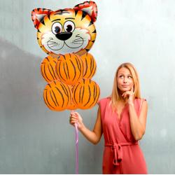 Fóliový balón - safari zvieratká 60x70cm