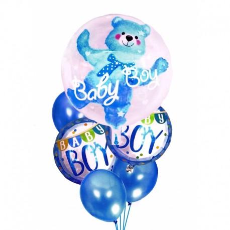 5949 DR Narodeninové balóny pre malé deti - 6ks Modrá