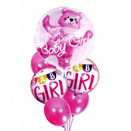 5949_1 DR Narodeninové balóny pre malé deti - 6ks Ružová