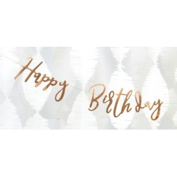 Girlanda - Baner - HAPPY BIRTHDAY, elegant 16,5x62cm