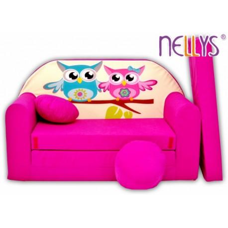 Rozkladacia detská pohovka Nellys Sovičky