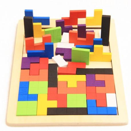 7620 Drevené inteligentné puzzle pre deti - 40 prvkov