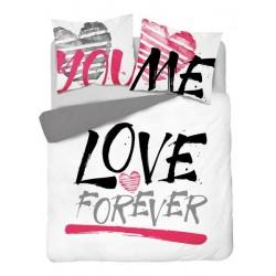 Posteľné obliečky LOVE FOREVER 160x200 cm