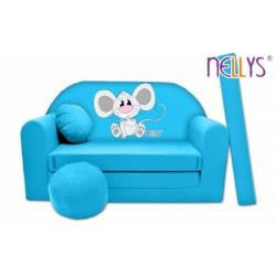 Rozkladacia detská pohovka Nellys Myška