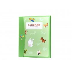 Magnetická skladacia kniha 3D Tangram