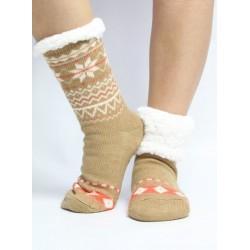 Kvietok ponožky - camel 13