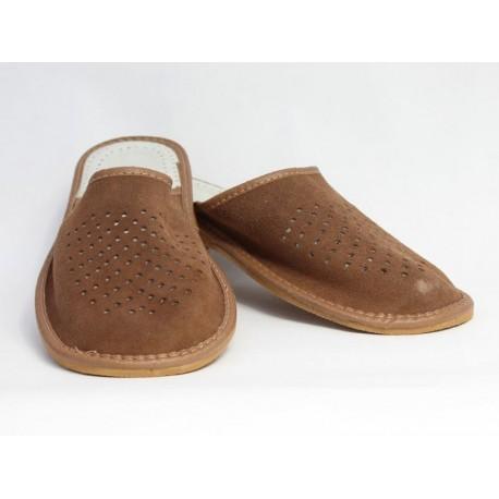 Pánske kožené papuče Model S 0018