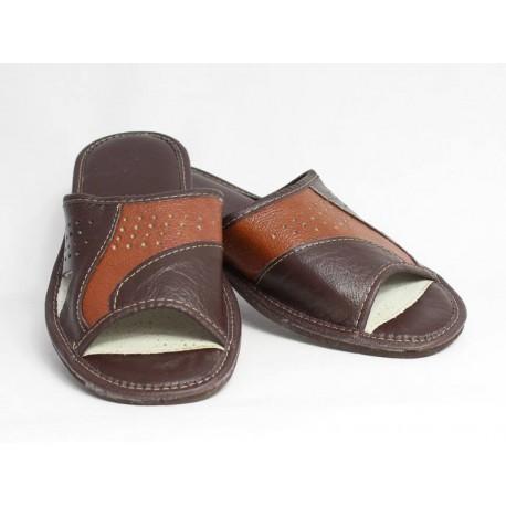 Pánske kožené papuče Model K