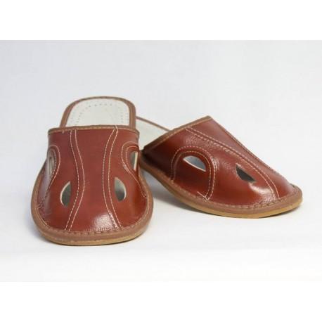 Pánske kožené papuče Model D 0008