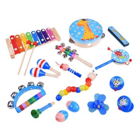 0133 Detské drevené hudobné nástroje 16ks