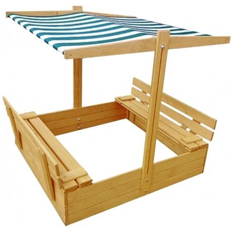 Detské drevené pieskovisko s lavičkami 19x119x120CM