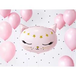 Fóliový balón - Mačička - 48cm, ružová