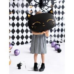 Fóliový balón - Mačička - 48cm, čierna
