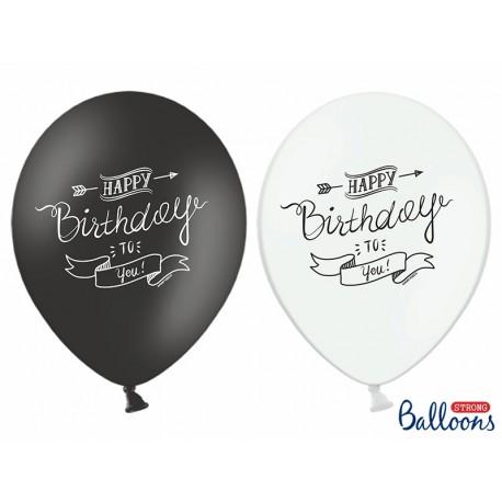 SB14P-258-000 Party Deco Balón - Happy Birthday to you - 1ks Čierna