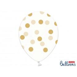 Číre balóny s bodkami - Crystal Clear - 30cm, 6ks