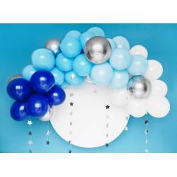 Kompletná balónová výzdoba - Modrá, 200cm, 61ks