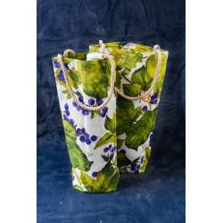 Eko bavlnená darčeková taška na víno