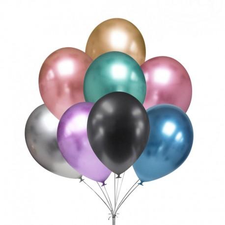 5864 Chrómové balóniky 30 cm - 5 ks mix farieb