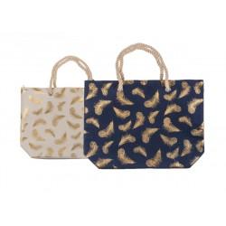 Látková nákupná taška - Zlaté pierko