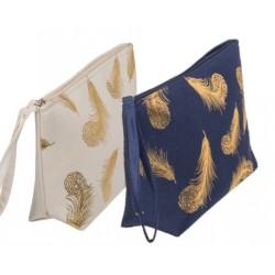 Kozmetická taška - Zlaté pierko