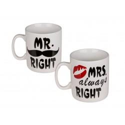 Gigantický hrnček pre partnera - Mr. Right or Mrs. Always Right XXL