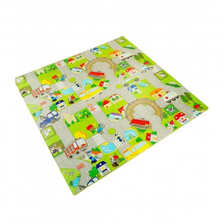 Penové puzzle na zem 4ks - Mesto