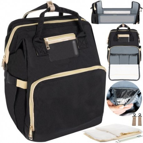 11787 Multifunkčný batoh pre mamičky 3v1 Čierna