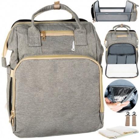 11784 Multifunkčný batoh pre mamičky 3v1 Sivá