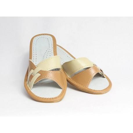 Dámske kožené papučky model 7