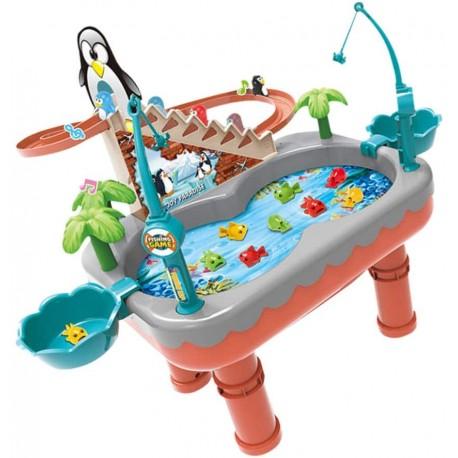 608468 Stolík na chytanie rýb s tučniakom