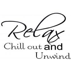 Dekoratívne nálepky na stenu - Relax and chill out, 60x40 cm